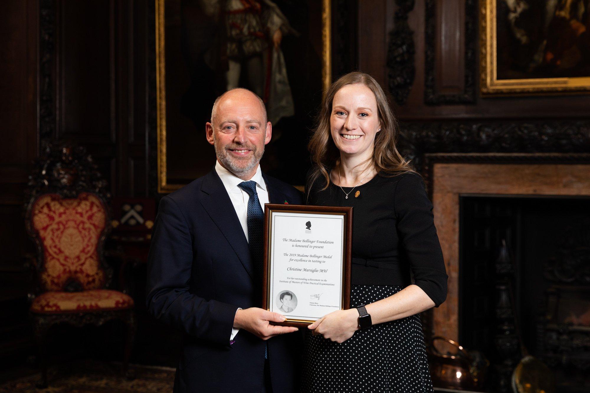 Christine Marsiglio MW named the 2019 Madame Bollinger Medal winner